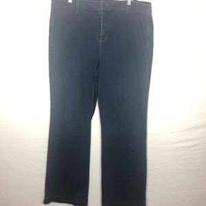 NYDJ Dark Wash Stretchy Jeans | 18w Wide Leg